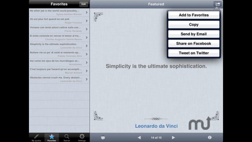 Quotes Folder for Mac - review, screenshots