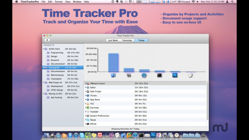 Time Tracker Pro for Mac - review, screenshots