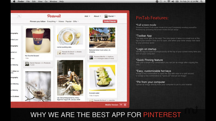 PinTab for Mac - review, screenshots