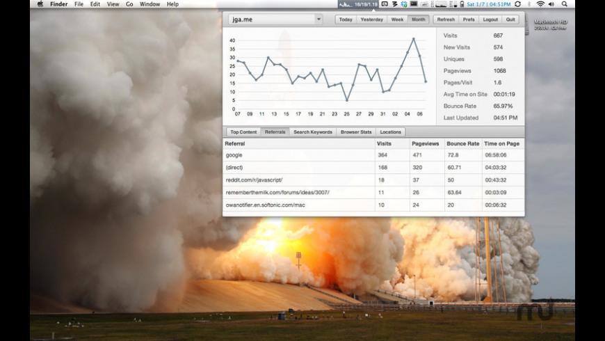 Visits for Mac - review, screenshots