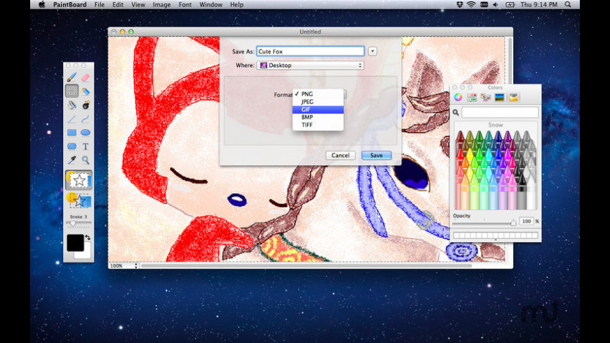 PaintBoard for Mac - review, screenshots