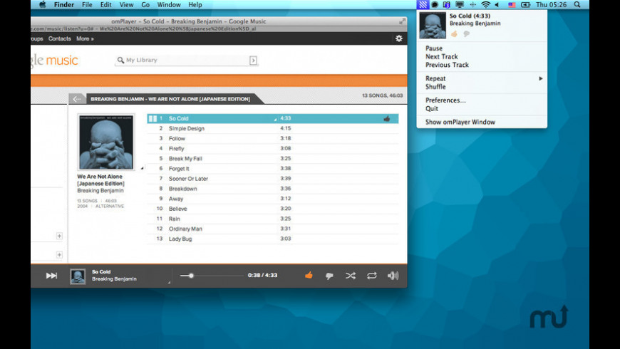 omPlayer for Mac - review, screenshots