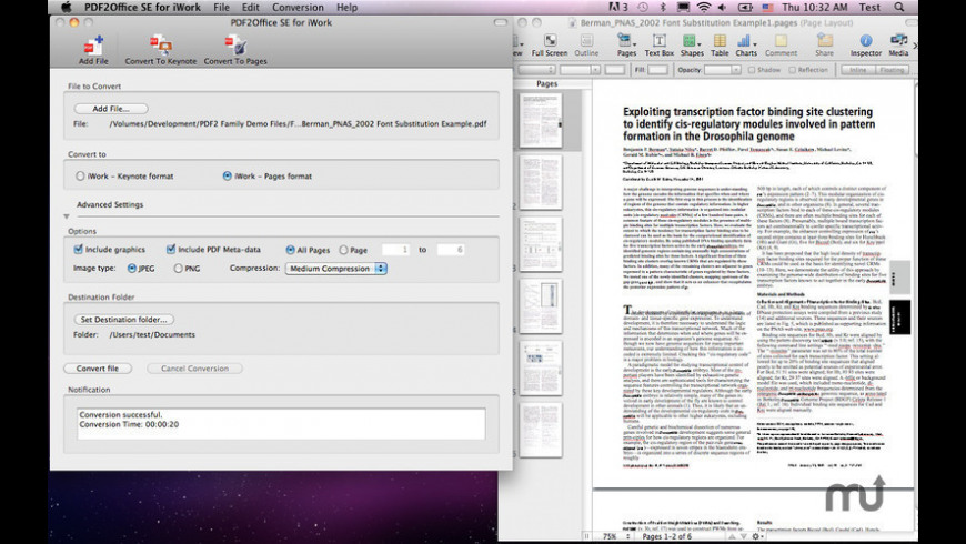 PDF2Office for iWork 2017 3 1 0 Free Download for Mac