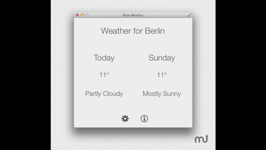 Plain Weather for Mac - review, screenshots