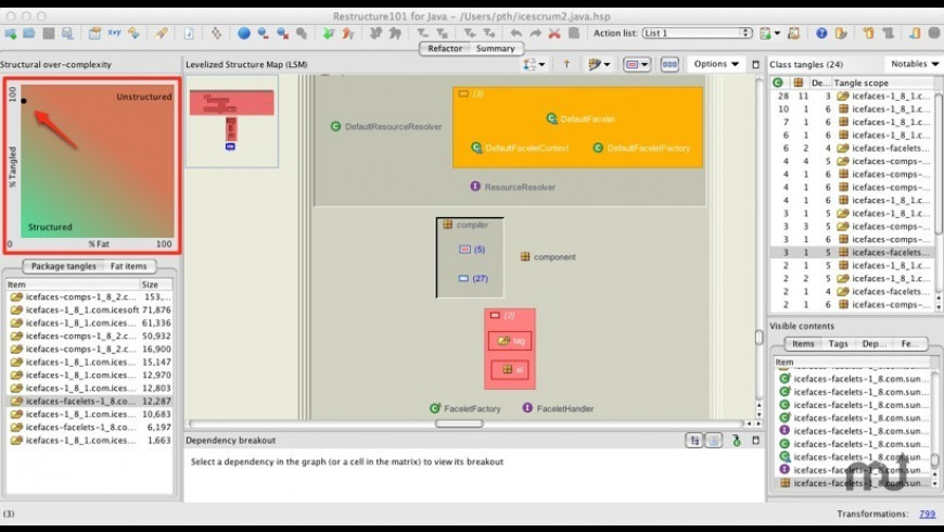 Restructure101 for Mac - review, screenshots