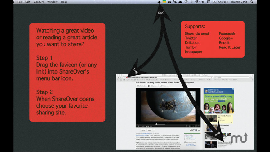 ShareOver for Mac - review, screenshots