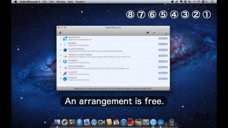 OrderOfLaunch for Mac - review, screenshots
