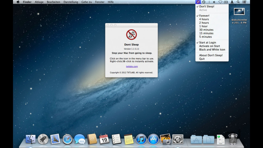 Don't Sleep! for Mac - review, screenshots