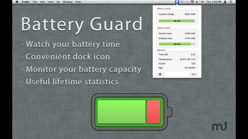 Battery Guard for Mac - review, screenshots