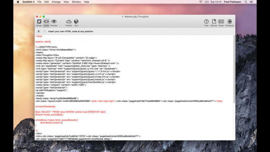 Goldfish Professional for Mac - review, screenshots