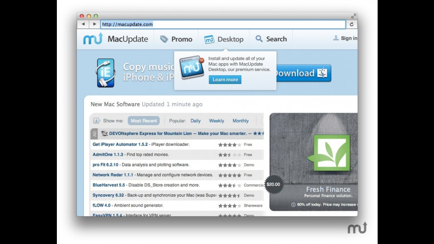 ecran internet for Mac - review, screenshots