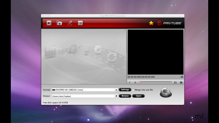 Free MTS M2TS Converter 1 0 Free Download for Mac | MacUpdate