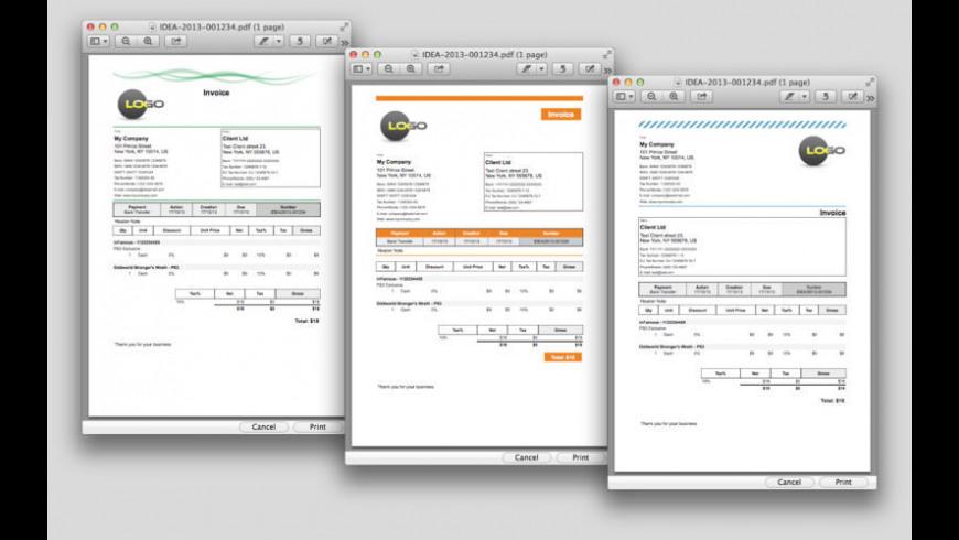 iDea Invoice Classic for Mac - review, screenshots