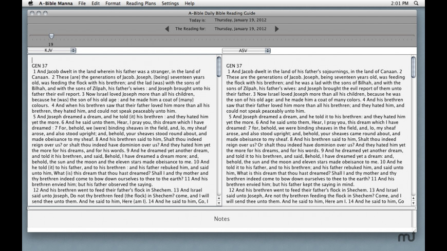A-Bible Manna for Mac - review, screenshots