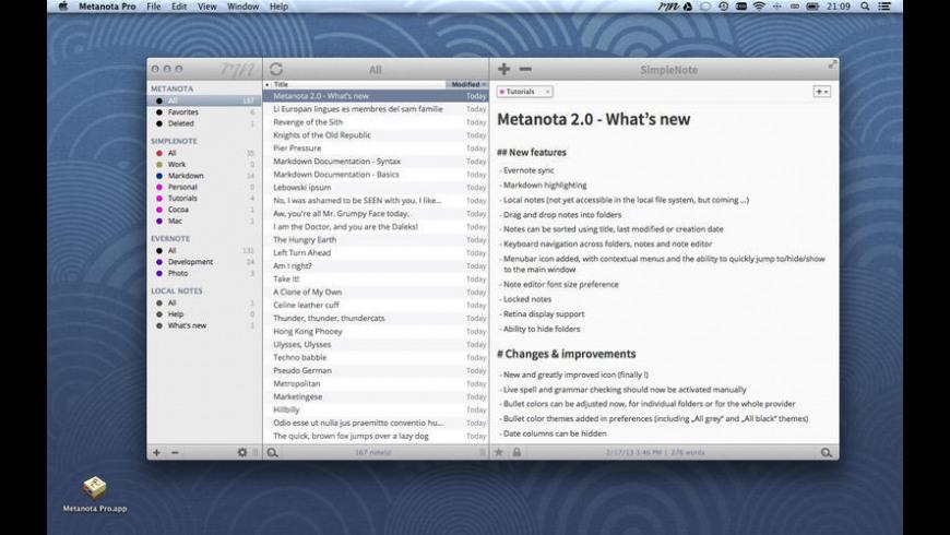Metanota Pro for Mac - review, screenshots