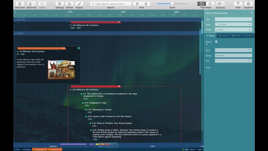 Aeon Timeline for Mac - review, screenshots