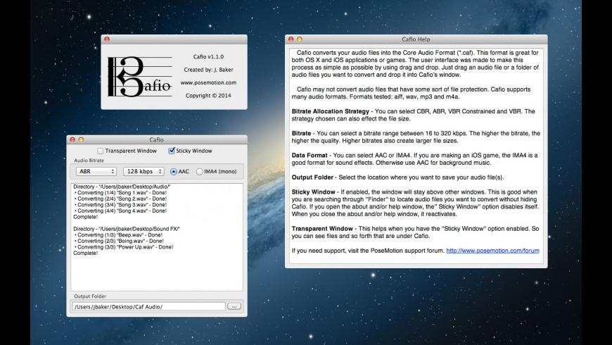 Cafio for Mac - review, screenshots