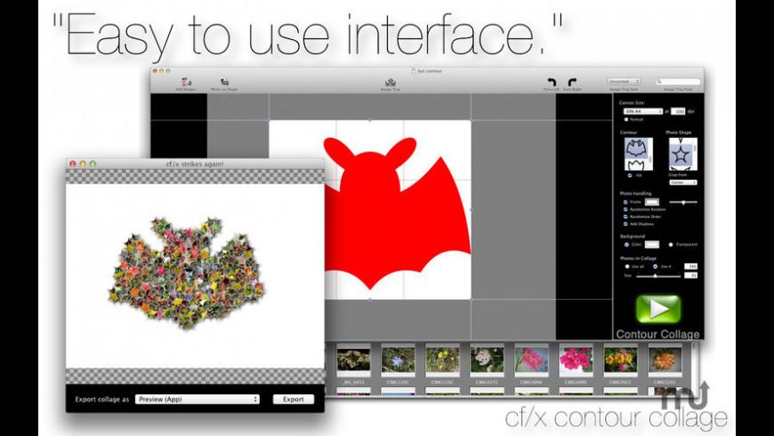cf/x contour collage for Mac - review, screenshots