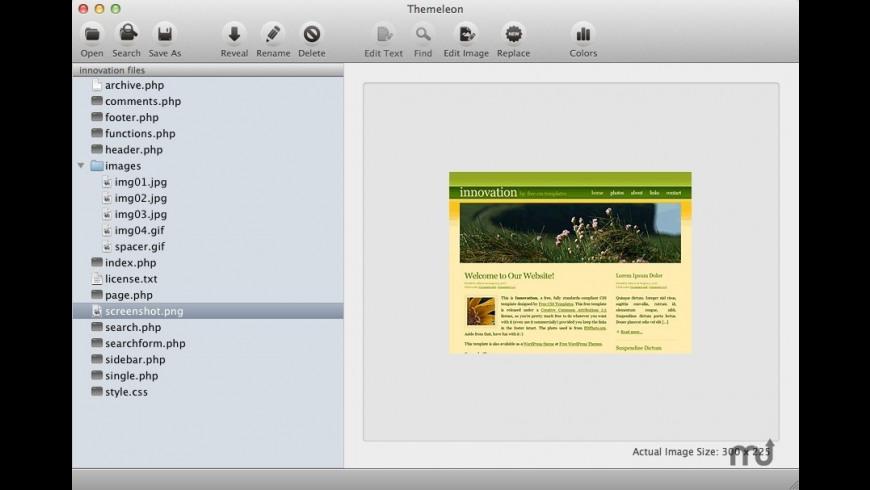 Themeleon for Mac - review, screenshots
