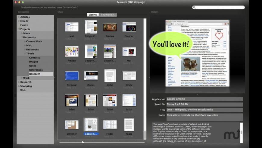 Skim Clip for Mac - review, screenshots