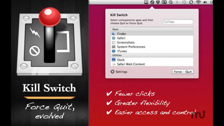 Kill Switch for Mac - review, screenshots