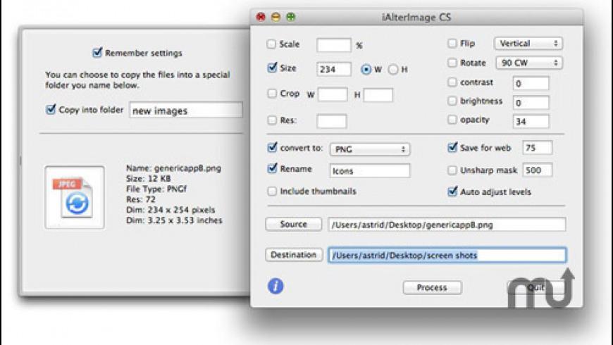 iAlterImage CS for Mac - review, screenshots