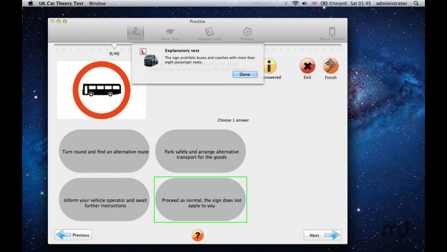 LGV Theory Test Lite for Mac - review, screenshots