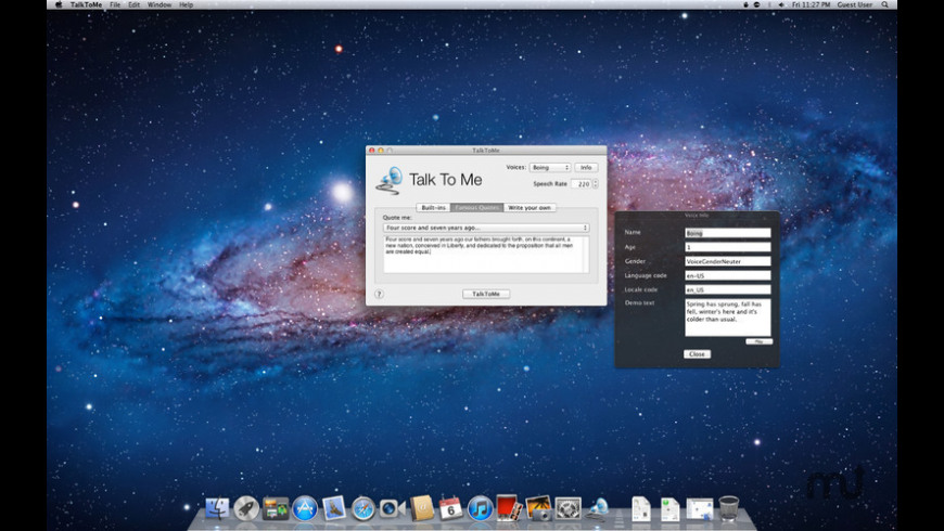 Talk To Me for Mac - review, screenshots