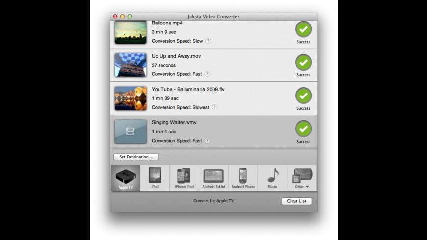 Jaksta Video Converter for Mac - review, screenshots