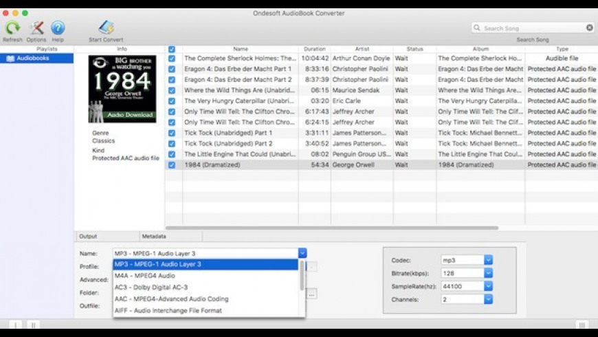 Ondesoft AudioBook Converter 4 2 0 Free Download for Mac