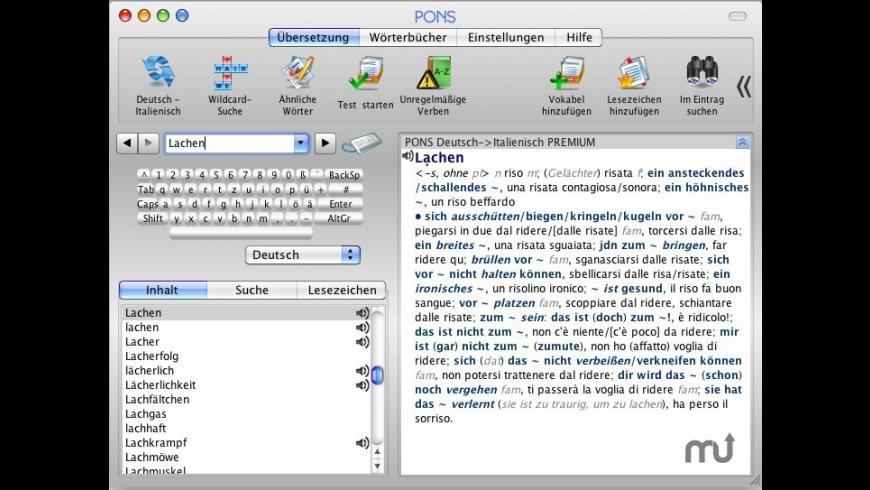 Dictionary Spanish/German PREMIUM for Mac - review, screenshots