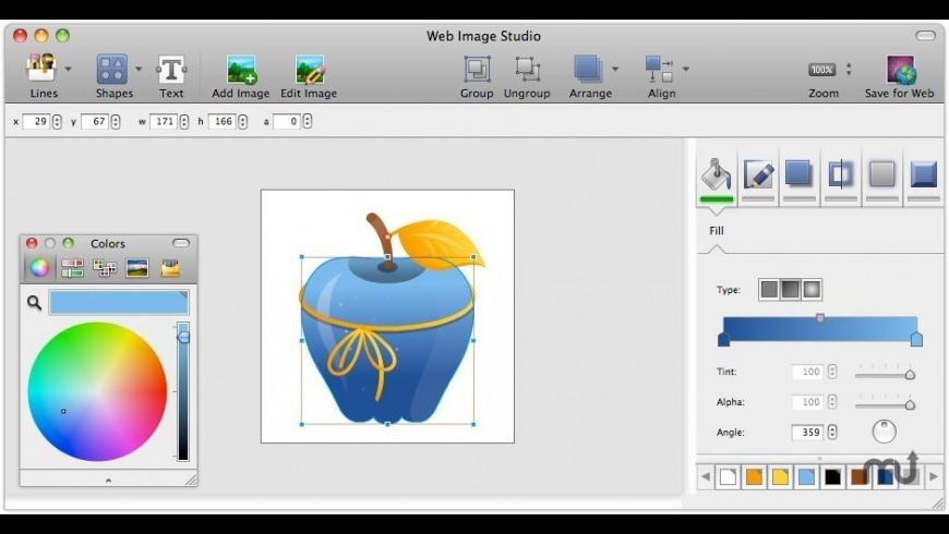 Free Web Image Studio for Mac - review, screenshots