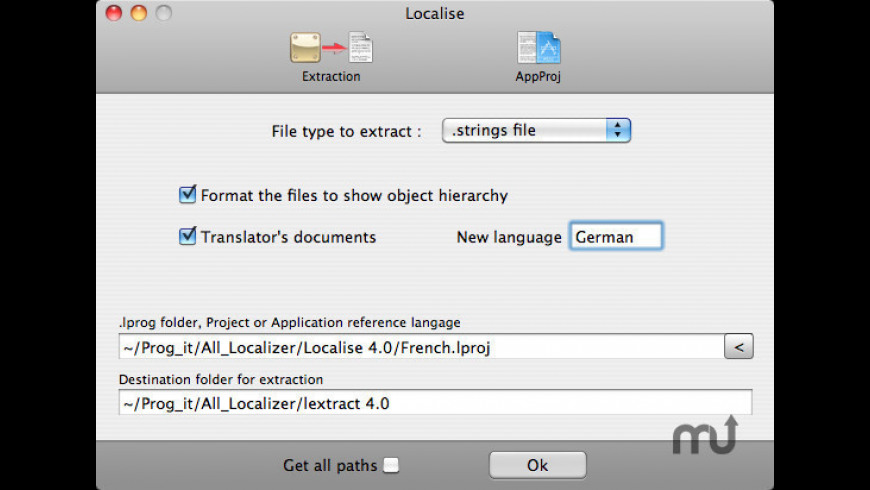 Localise for Mac - review, screenshots
