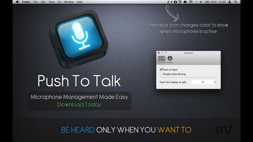 Push To Talk for Mac - review, screenshots
