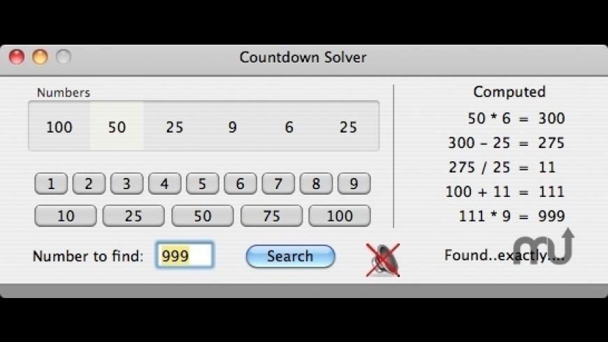 Countdown Solver for Mac - review, screenshots