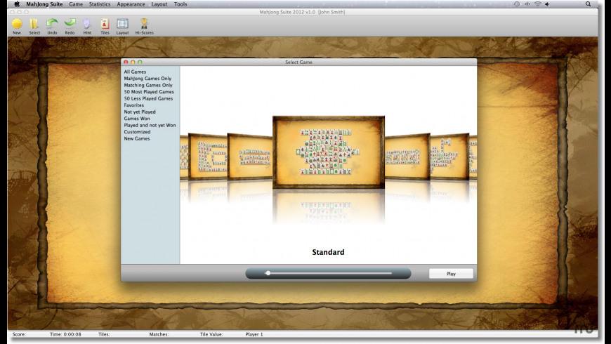 MahJong Suite for Mac - review, screenshots