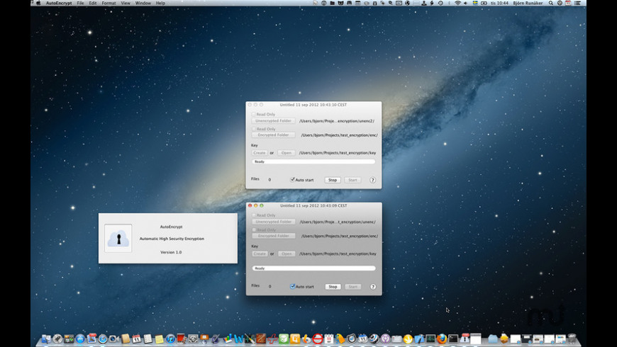 AutoEncrypt for Mac - review, screenshots