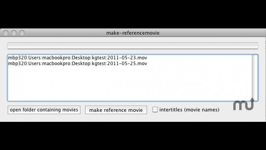 makereferencemovie for Mac - review, screenshots