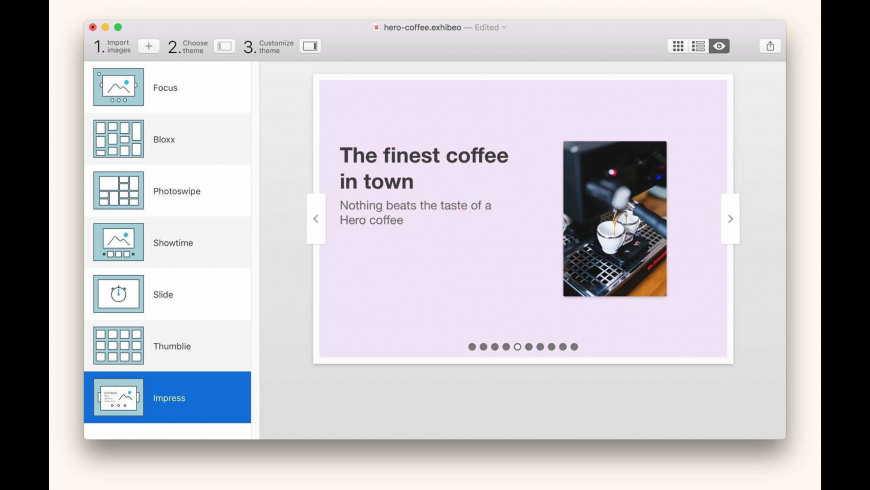 Exhibeo for Mac - review, screenshots