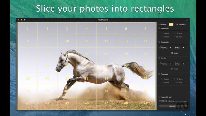 Tile Photos FX for Mac - review, screenshots