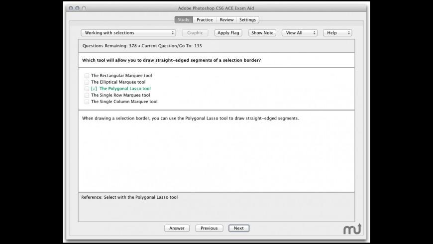 Adobe Photoshop CS6 ACE Exam Aid for Mac - review, screenshots
