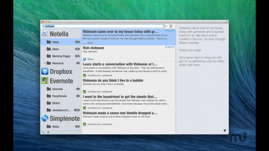 Notella for Mac - review, screenshots
