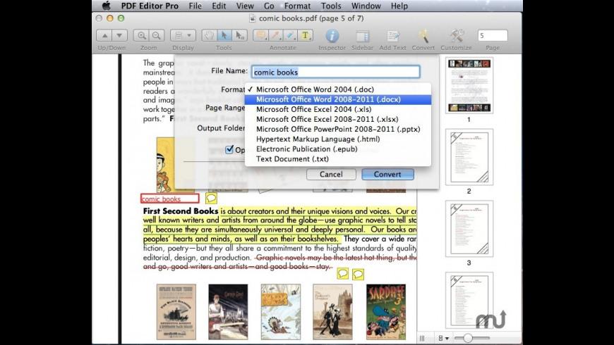 Wondershare PDF Converter Pro for Mac - review, screenshots