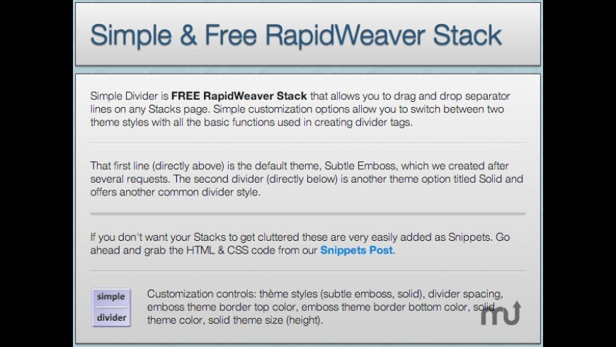 Simple Divider for Mac - review, screenshots