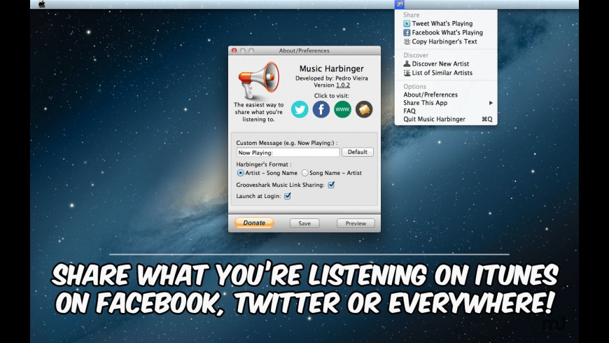 Music Harbinger for Mac - review, screenshots