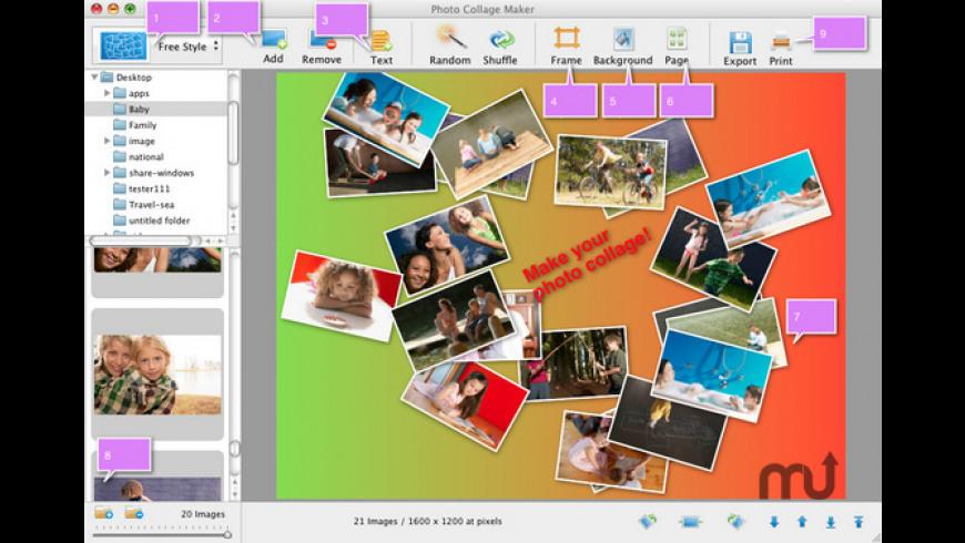 SnowFox Photo Collage Maker  for Mac - review, screenshots