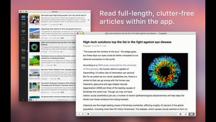 Feedy for Mac - review, screenshots