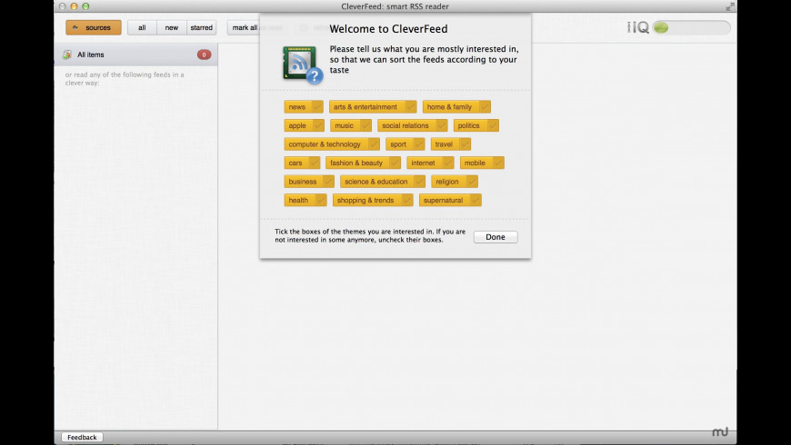 CleverFeed for Mac - review, screenshots