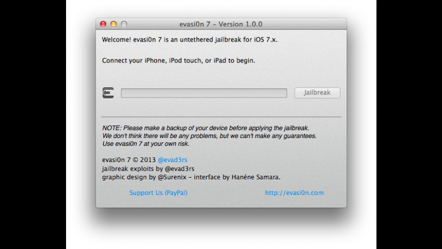 evasi0n 7 1 0 8 Free Download for Mac | MacUpdate