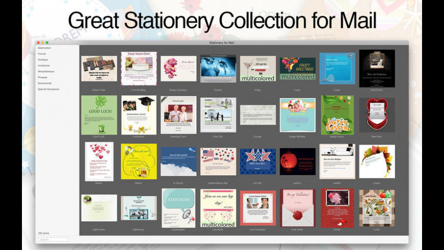 Stationery for Mail for Mac - review, screenshots